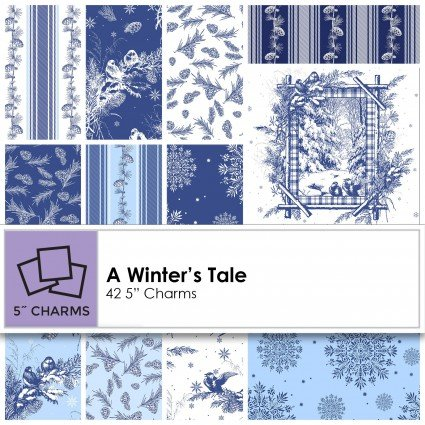 A Winter's Tale 5 Charm Squares SQ0143