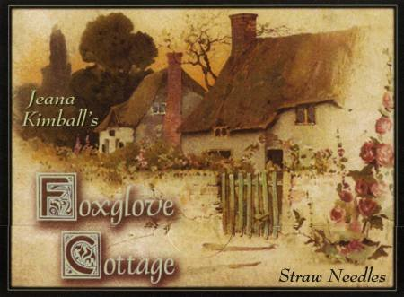 Foxglove Cottage Sampler Straw  4ct