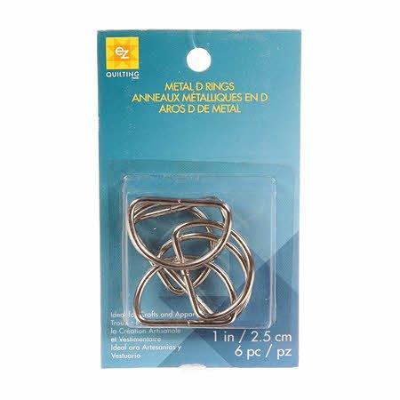 D Rings Metal 1in 6ct Nickel