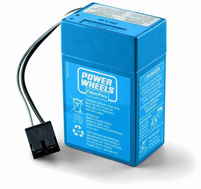 Power Wheel - Battery, 6V, 4 Amp, Blue