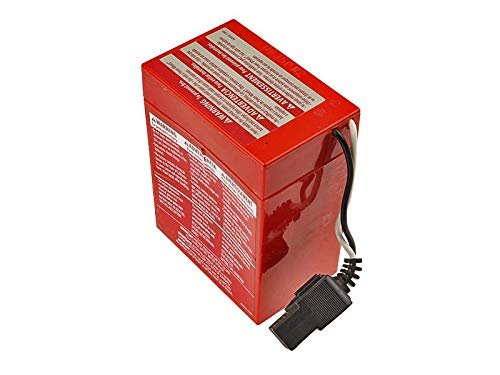 Power Wheels 6 Volt Battery (Red) With Internal Connector