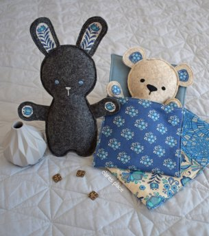 bed time bunny and bear by clares place