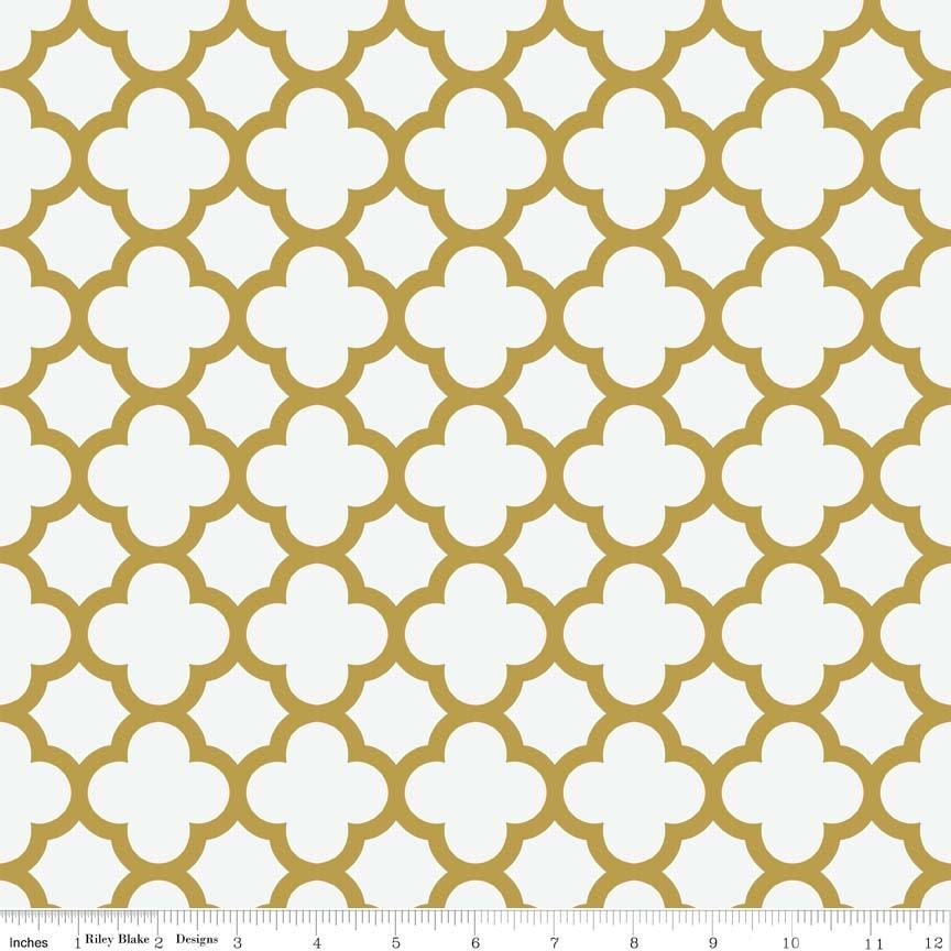 Sparkle Gold Quatrefoil SC435-52