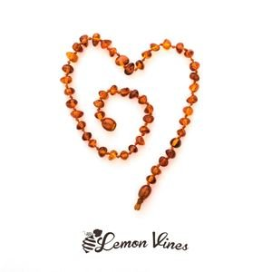 Lemon Vines Amber Necklace (18m-3yr) 32cm