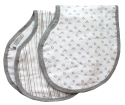 Buttons Muslin Burp Cloths