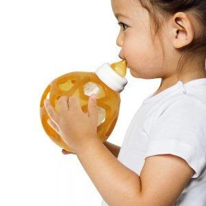 Hevea 2 in 1 Baby Glass Bottle