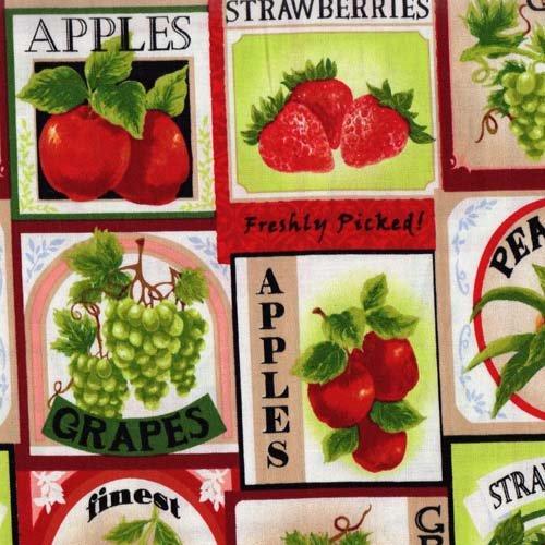 Fabri-Quilt Fresh Harvest Fruit Labels 112-28681