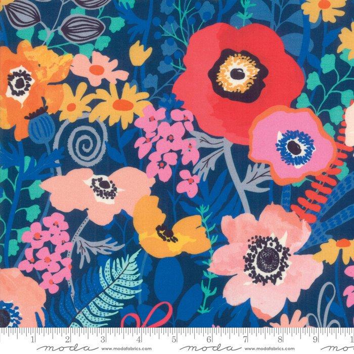 Moda | Botanica 11840 15 Navy Floral by Crystal Manning