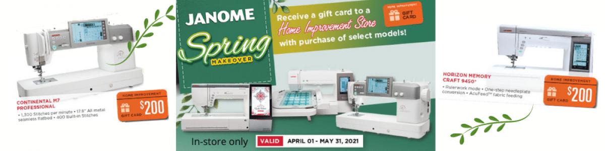 Janome Home Depot Spring Makeover