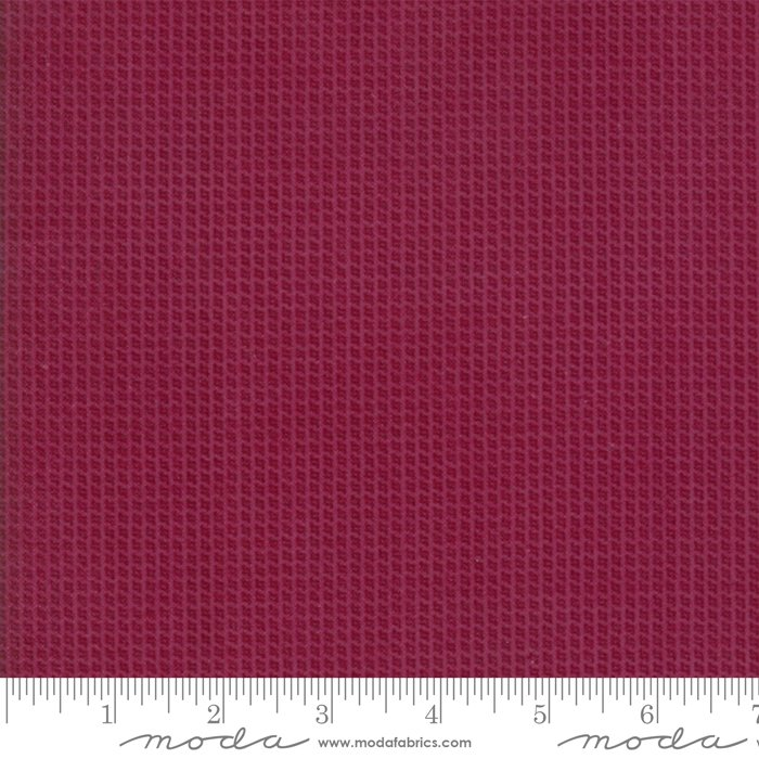 Moda Wool & Needle Flannels VI by Primitive Gatherings - 1250 24F Mulberry Small Check