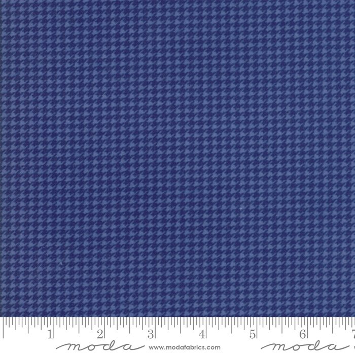 Moda Wool & Needle Flannels VI by Primitive Gatherings - 1252 22F Periwinkle Hounds Tooth