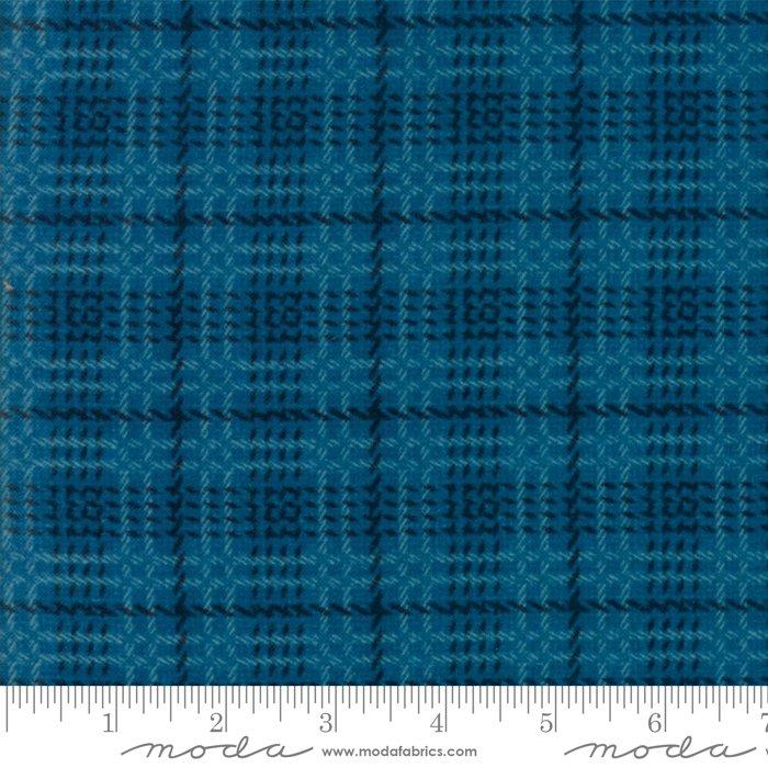 Moda Wool & Needle Flannels VI by Primitive Gatherings - 1257 21F Lagoon Bold Plaid