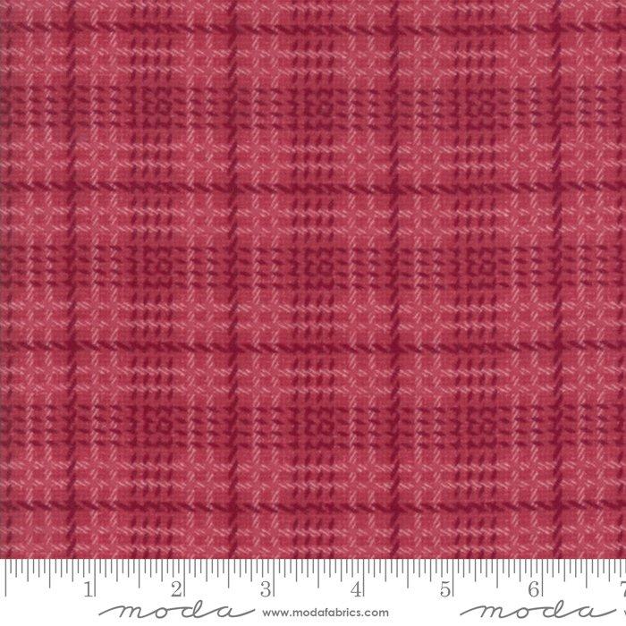 Moda Wool & Needle Flannels VI by Primitive Gatherings - 1257 24F Petunia Bold Plaid