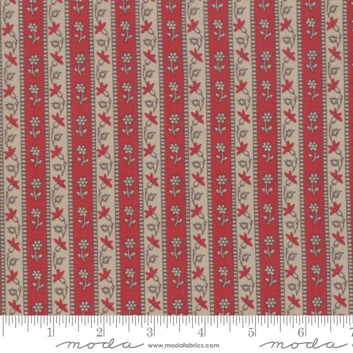 Moda | French General | Chafarcani 13854 17 Rouge Roche Stripe