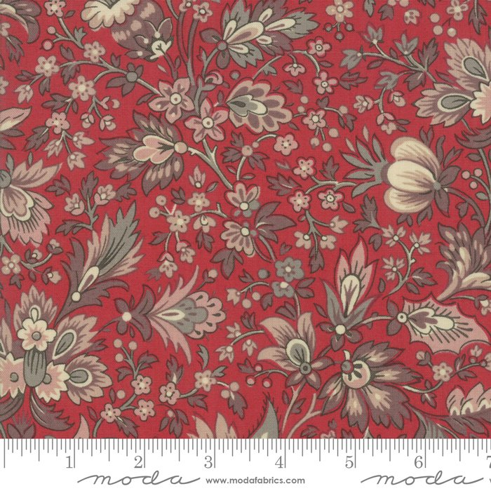 Moda | French General | Chafarcani 13860 11 Rouge Floral