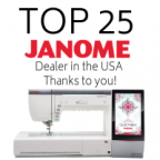 The Fabric Garden is a Top 25 Janome Dealer in the United States