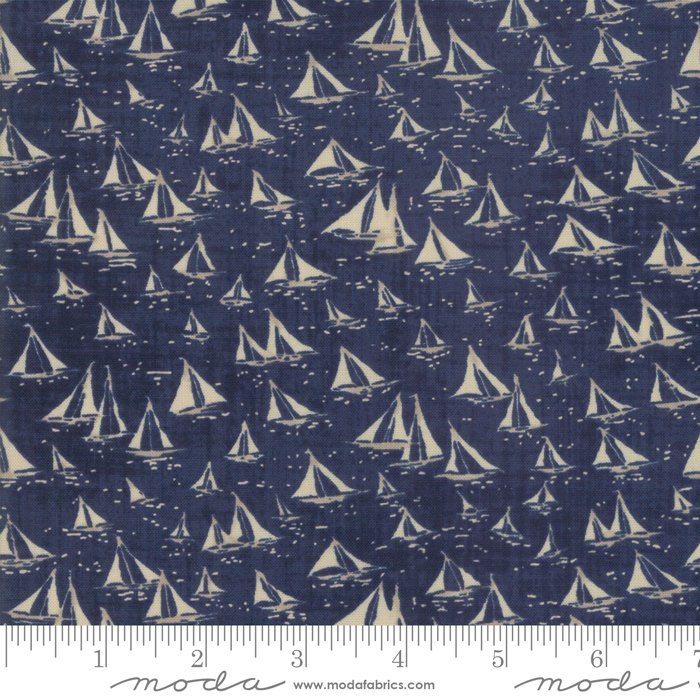 Moda | Ebb and Flow 1480 20 Dark Ocean Cowes by Janet Clare