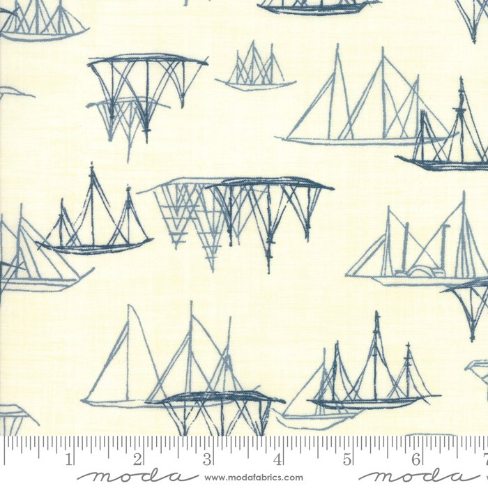 Moda | Ebb and Flow 1486 11 Pearl Sailing Ships by Janet Clare