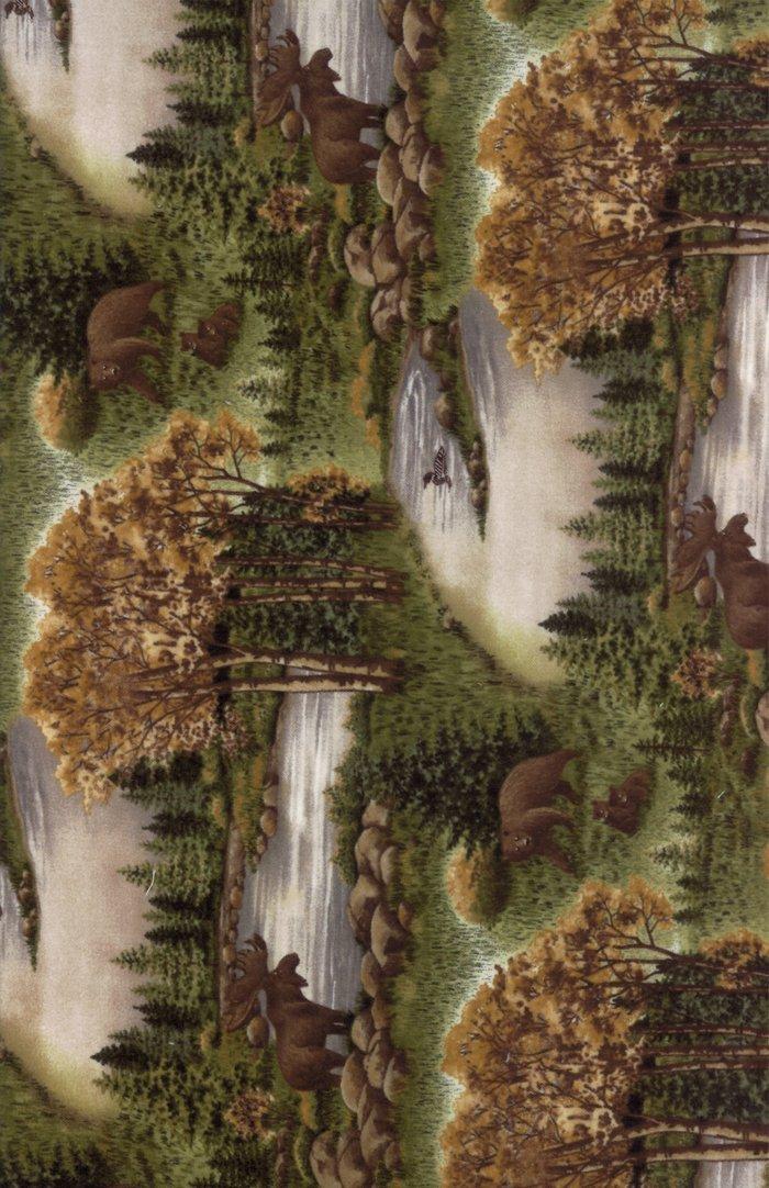 Moda - Return to Cub Lake 6740-13F Moss Flannel