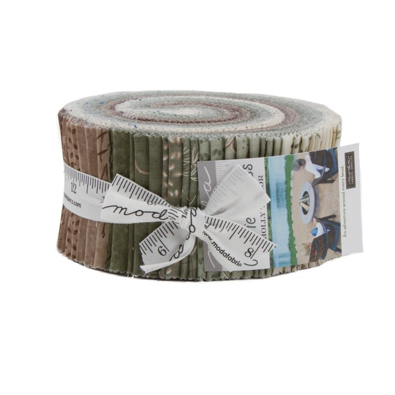 Moda Prairie Grass - Jelly Roll 42 strips cut 2.5 each