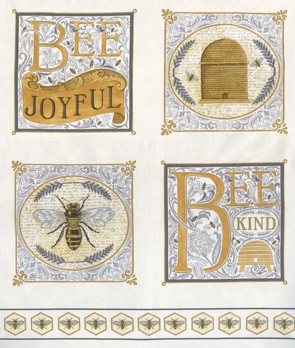 Moda | Bee Joyful by Deb Strain 19870 14 Bee Panel - Laurel White