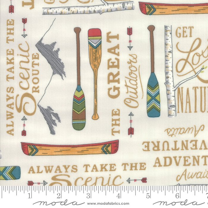 Moda - Explore 19911 11 Birch White - The Great Outdoors by Deb Strain