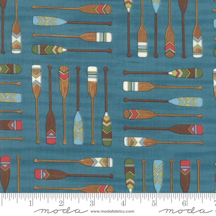 Moda - Explore 19912 12 Lake Blue Oars by Deb Strain