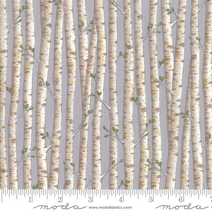 Moda - Explore 19916 13 Pebble Gray Birch Trees by Deb Strain