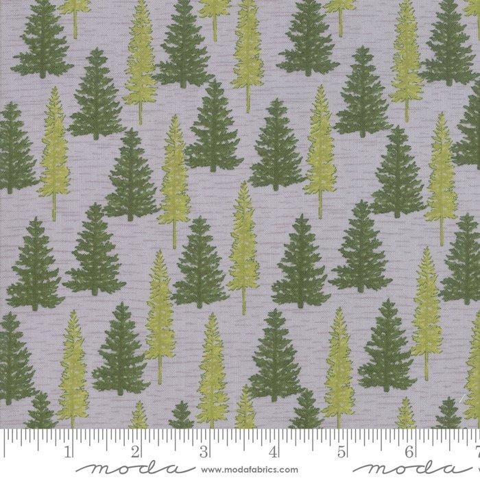 Moda - Explore 19917  12 Pebble Gray Woodland Pine Trees by Deb Strain