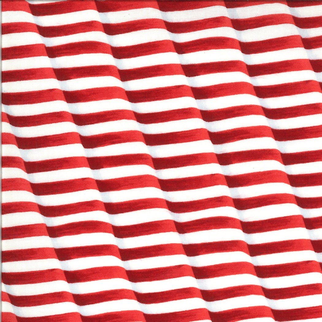 Moda - America The Beautiful 19985 11 Barnwood Red Weaving Stripes Flag by Deb Strain