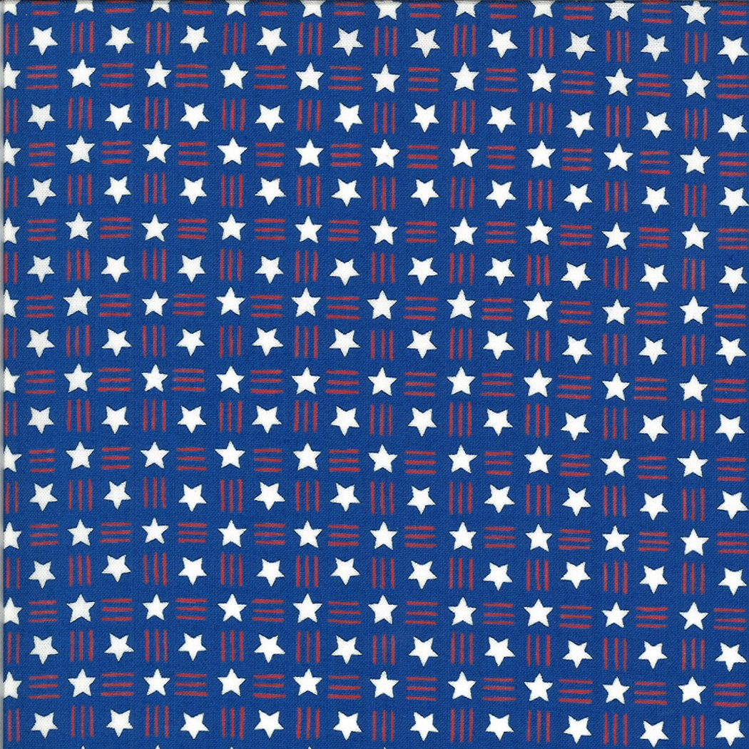 Moda - America The Beautiful 19987 14 Lake Blue Stars Stripes by Deb Strain