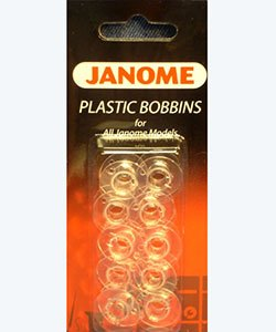 Janome Plastic Bobbins - Pack of 10
