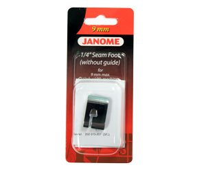 Janome 1/4 Foot Without Guide 9mm- 202313001