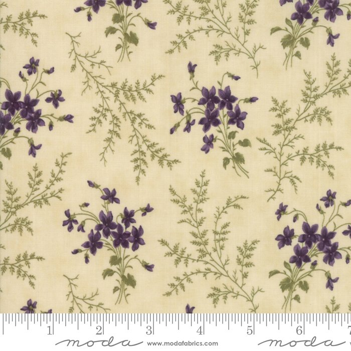 Moda | Sweet Violet by Jan Patek 2221-11 Violet Ferns in Ivory