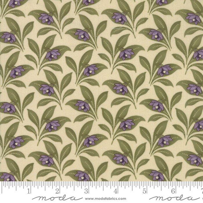 Moda | Sweet Violet by Jan Patek 2223-11 Violet Leaves in Ivory