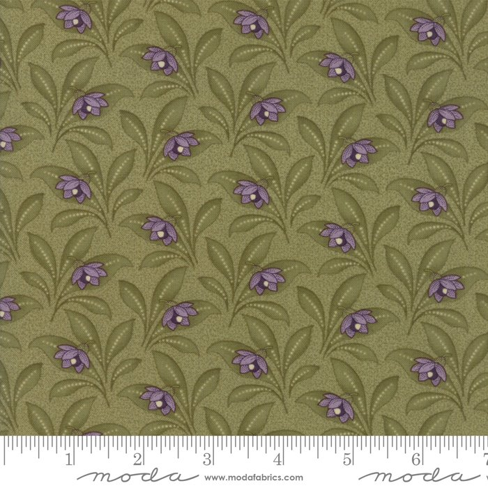 Moda | Sweet Violet by Jan Patek 2223-13 Violet Leaves - Leaf Green