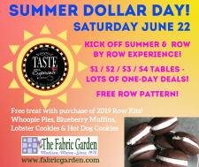 Summer Dollar Day at The Fabric Garden
