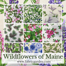 Pre-order Maine Shop Hop Fabrics Wildflowers of Maine