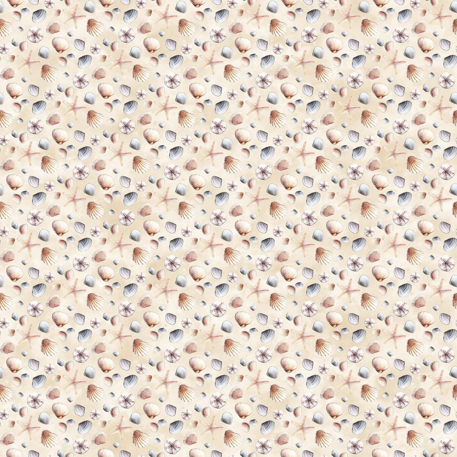 Northcott | Atlantic Shore 22612 11 Seashell Fabric