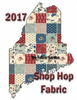 Official Fabric of the 2017 Maine Quilt Shop Hop - Hamilton by Williamsburg for Windham Fabrics