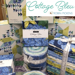 Moda Cottage Blue fabrics by Robin Pickens