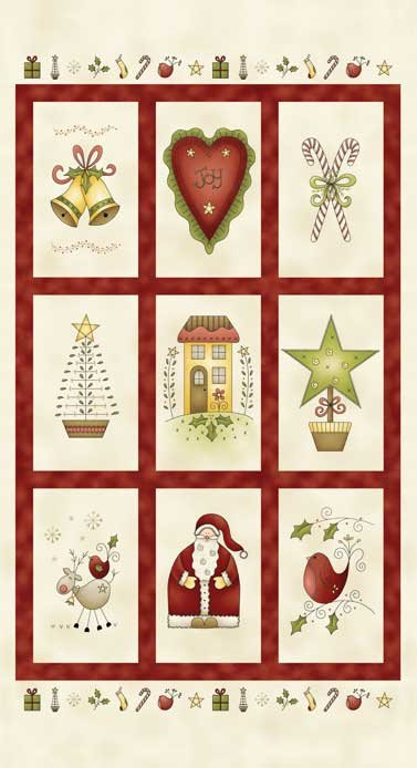 Red Rooster All Things Christmas Panel 26557 Mul