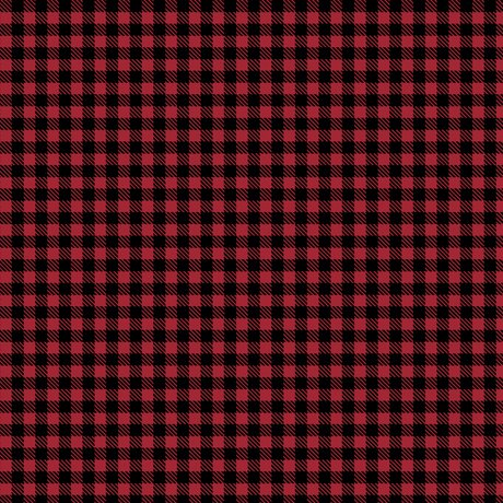 QT Fabrics Moose Trail Lodge - 26686-R - Plaid - Red