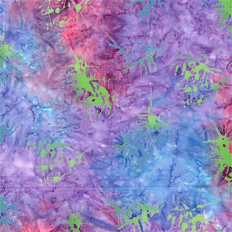 RJR Blossom Batiks 2810-002 SPLATTER - BLUE LOTUS