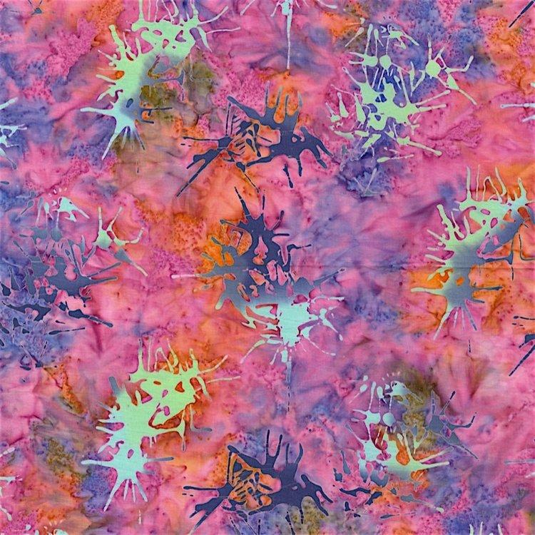RJR Blossom Batiks 2810-005 SPLATTER - GLADIOLUS