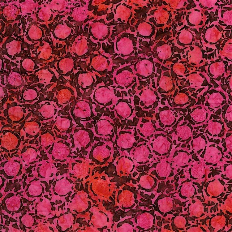 RJR Blossom Batiks 2811-005 BLOTS - BOUGAINVILLEA