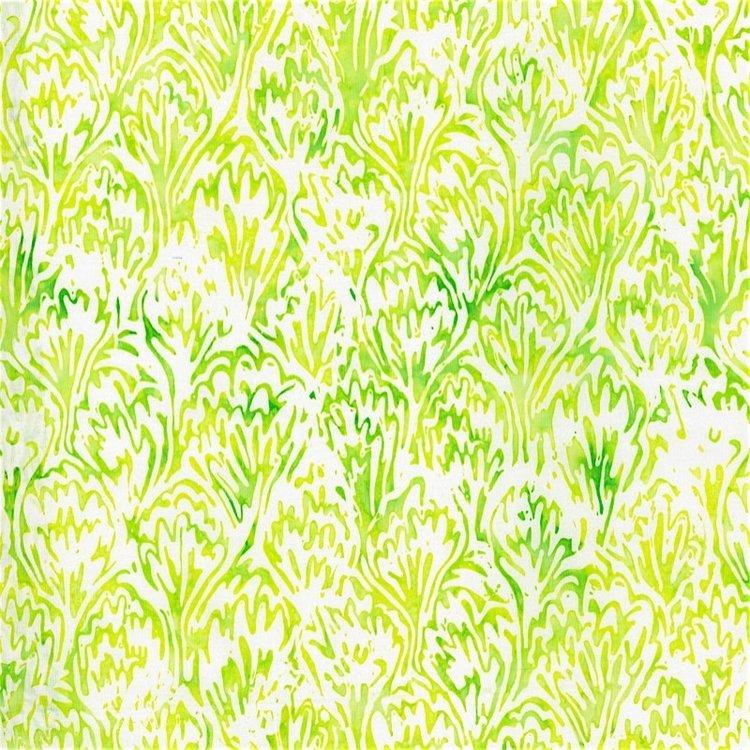 RJR Blossom Batiks 2813-004 FEATHERS - LEMON VERBENA