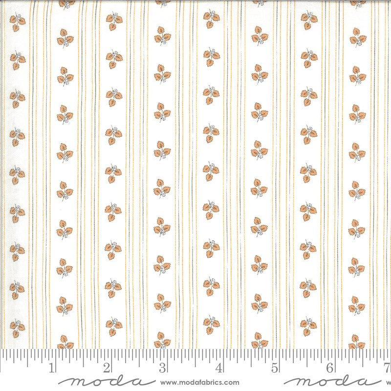 Moda Squirrelly Girl 2973 13 Ivory Apricot Stripe - Its Fall Yall