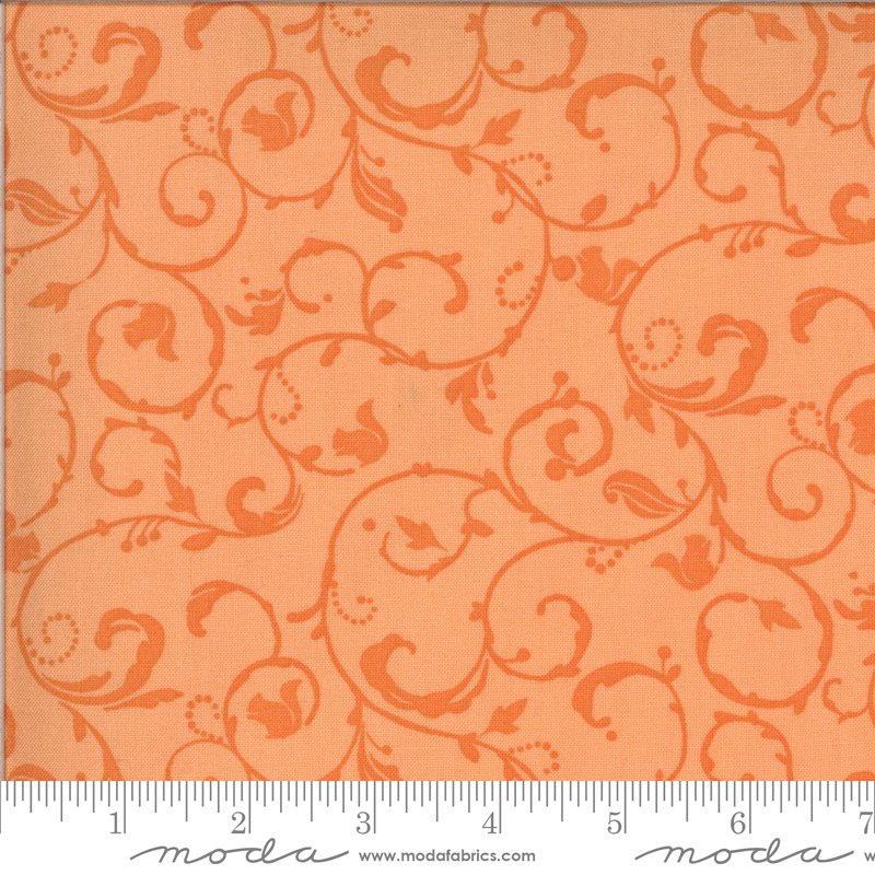 Moda Squirrelly Girl 2977 11 Apricot - Squirrel Swirl