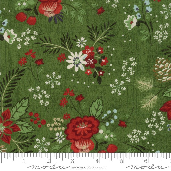 Moda - Winter Village by Basic Grey - Spruce 30550 16 Poinsettia